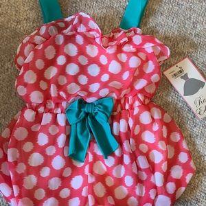 NWT Baby Girl polka dot romper size 24 months